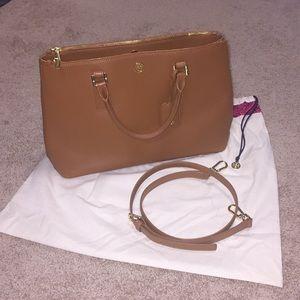 Tory Burch Robinson Double Zip Purse - Luggage